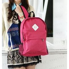 59 Seconds - Star-Patterned Double Zip Backpack