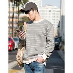 STYLEMAN - Round-Neck Stripe T-Shirt