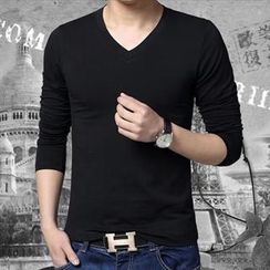 Gurun Vani - Long-Sleeve V-Neck T-Shirt