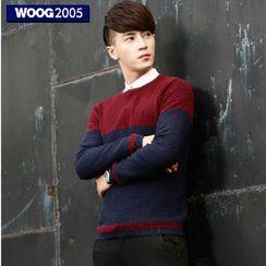 WOOG - Color Block Knit Pullover