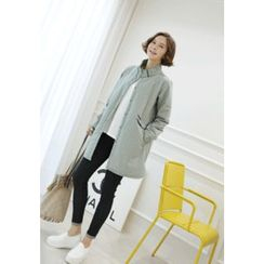 Lemite - Stand-Collar Buttoned Coat