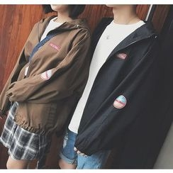Bestrooy - Couple Matching Patch Hooded Jacket