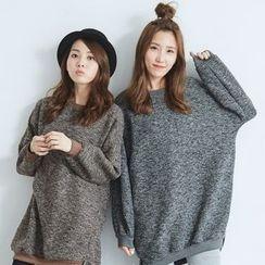 BAIMOMO - 混色长款毛衣