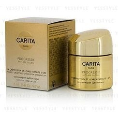 Carita - Progressif Anti-Age Global Perfect Cream Trio Of Gold (For Eyes and Lips)