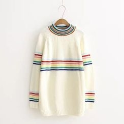 Blue Rose - Striped Long Sweater