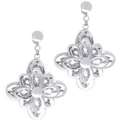 Keleo - 18K White Gold Earrings