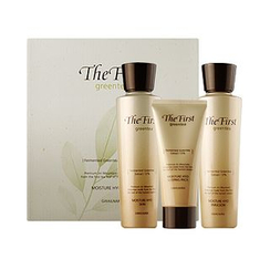 Kwailnara - The First Greentea Moisture Hyo Set: Skin 150ml + Emulsion 150ml + Sleeping Pack 50ml