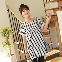 CLICK - Short-Sleeve Stripe T-Shirt