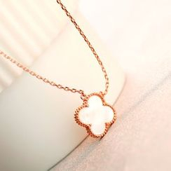 LoveGem - 18K Gold Clover Pendant Necklace