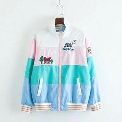TOJI - Color-Block Zip Jacket