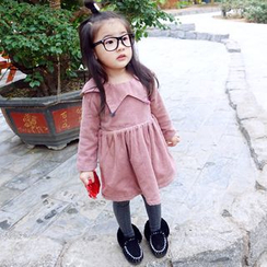 CUBS - Kids Long Sleeve Collared Corduroy Dress