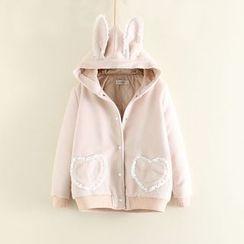 Mushi - Hooded Woolen Jacket