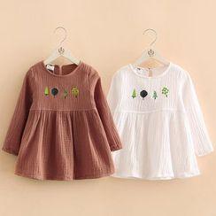 貝殼童裝 - 小童長袖連衣裙