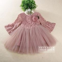 Showtime - Kids Bell-Sleeved Lace Dress