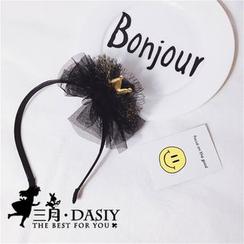 March Daisy - 網紗頭花皇冠髮箍