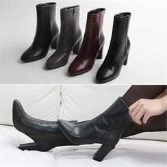 Reneve - Chunky-Heel Short Boots