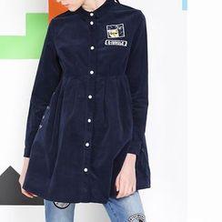 MUKOKO - Embroidered Long-Sleeve Shirtdress