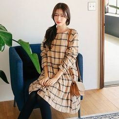 Seoul Fashion - Cotton Check Dress