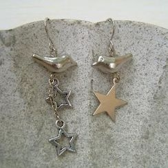 MyLittleThing - Silver Birds Long Earrings