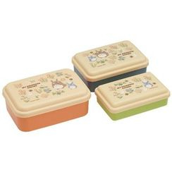 Skater - My Neighbor Totoro Seal Food Container Set (3 Pieces)