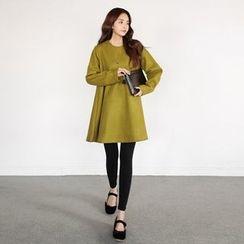 Seoul Fashion - A-Line Wool Blend Dress