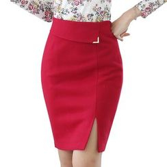 Harmonium - Slit-Front Pencil Skirt