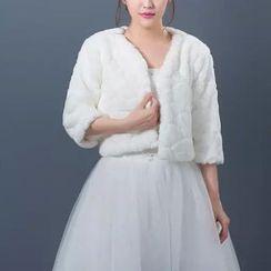 Bridal Workshop - 中袖短款人造毛外套