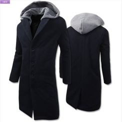 WIZIKOREA - Detachable Hood Coat