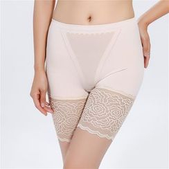 Meigo - Lace Panel Boyshorts