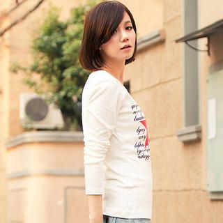 Long-Sleeve Printed T-Shirt