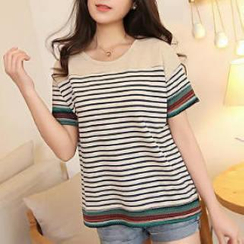 JVL - Short-Sleeved Striped T-Shirt
