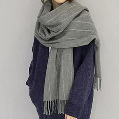 Pompabee - Pinstriped Fleece Scarf