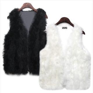 WiziKorea W - Faux Fur Vest