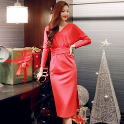 Sherbo - Long-Sleeve Sheath Party Dress