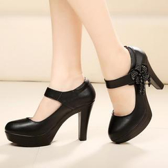 Hannah - Genuine Leather Platform Pumps
