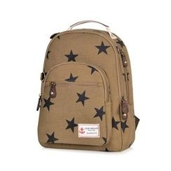 SUPER LOVER - Star Print Canvas Backpack