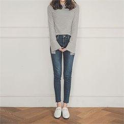 ERANZI - Fray-Hem Skinny Jeans