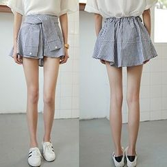 Glen Glam - Mock Two-Piece Shorts