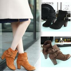 Shoeland - Block Heel Ankle Boots