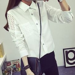 lilygirl - Perforated Long-Sleeve Shirt