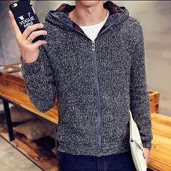 maxhomme - Hooded Knit Zip Jacket