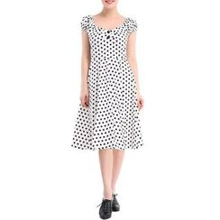 Forest Of Darama - Polka Dot Midi Dress