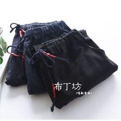布丁坊 - 纯色抽绳裤