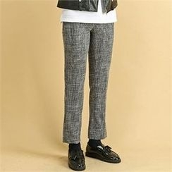THE COVER - Flat-Front Check Dress Pants