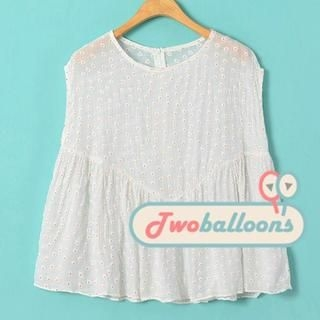 JVL - Tiered Floral Sleeveless Top