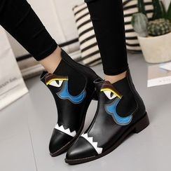 Chryse - Monster Eye Pointed Short Boots