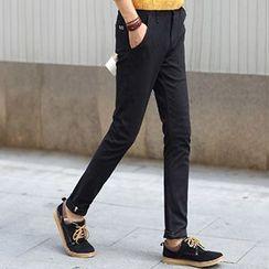 Consto - 纯色窄身裤