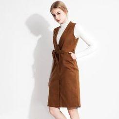 Halona - Set: Knit Top + Sleeveless Dress