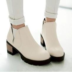 Tomma - Platform Block Heel Ankle Boots