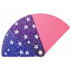 DREAMS - Pocket Size Uchiwa (Shaped Hand Fan) (Star)